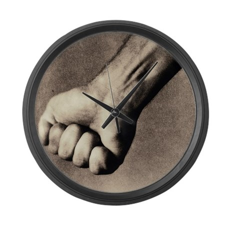 Man's clenched fist - Large Wall Clock
