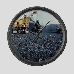 Open cast coal mining - Large Wall Clock