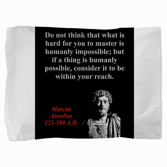 Do Not Think What Is Hard - Marcus Aurelius Pillow