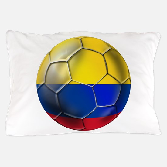Colombia Soccer Ball Pillow Case