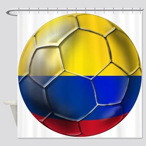 Colombia Soccer Ball Shower Curtain