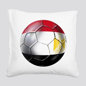 Egypt Soccer Ball Square Canvas Pillow