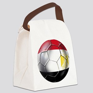 Egypt Soccer Ball Canvas Lunch Bag