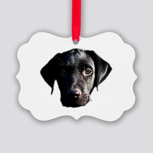 Black lab Picture Ornament