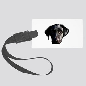 Black lab Large Luggage Tag