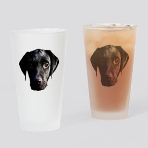 Black lab Drinking Glass
