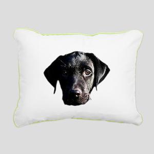 Black lab Rectangular Canvas Pillow