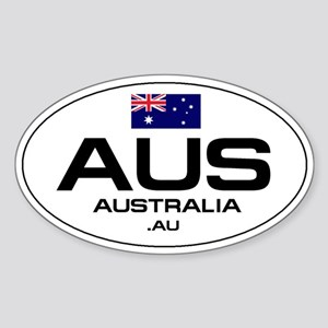 UN-Style Oval Automobile Sticker - Australia