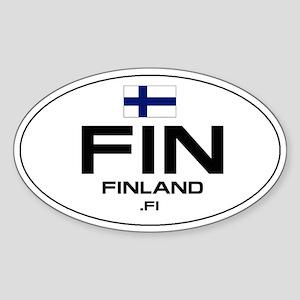 UN-Style Oval Automobile Sticker - Finland