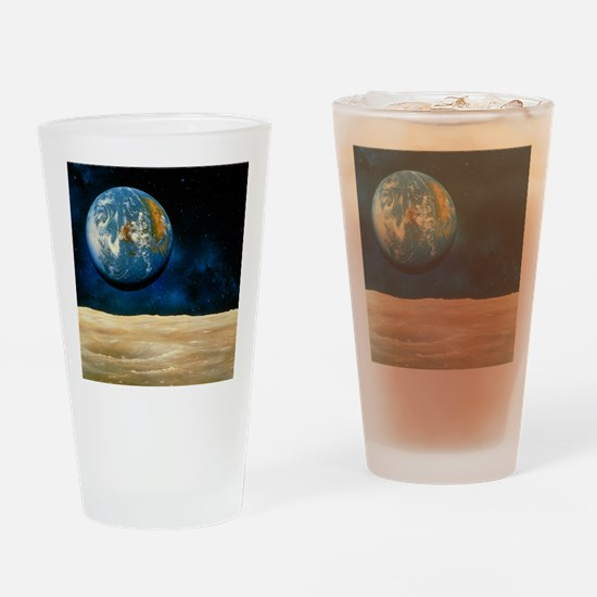 the Moon - Drinking Glass
