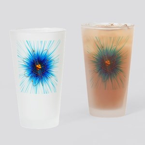 Atomic structure, artwork - Drinking Glass