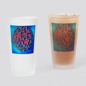 Buckyball molecule, artwork - Drinking Glass