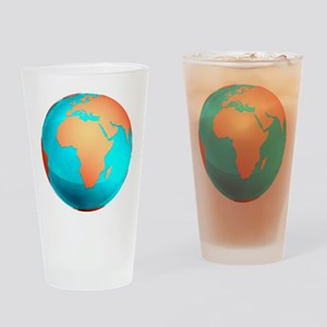 Earth, computer artwork - Drinking Glass