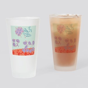Human immune response, artwork - Drinking Glass