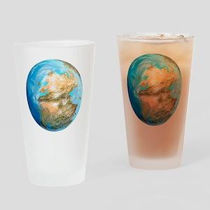 Pangea supercontinent, artwork - Drinking Glass