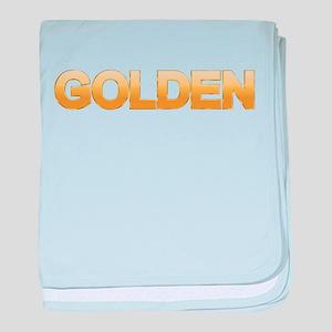 Golden baby blanket