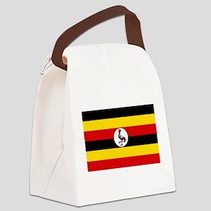 Uganda Flag Canvas Lunch Bag