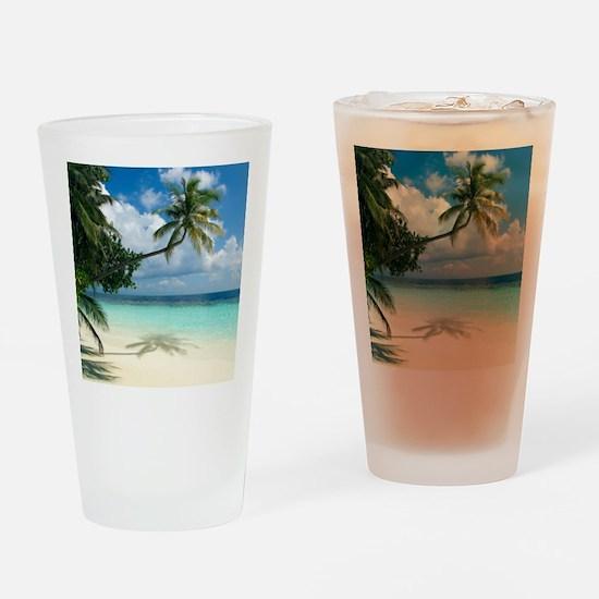 Tropical beach - Drinking Glass