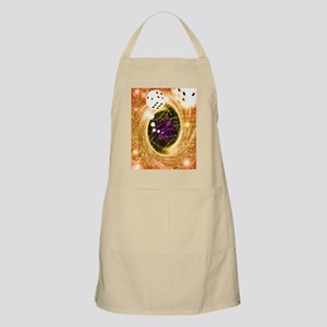 Art of dice, a black hole and chance - Apron