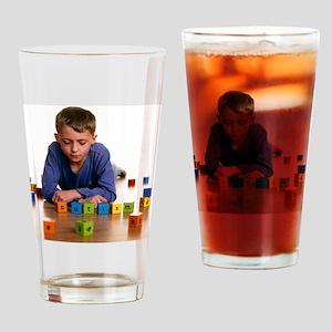 Autistic boy - Drinking Glass
