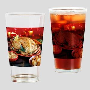 Christmas dinner - Drinking Glass