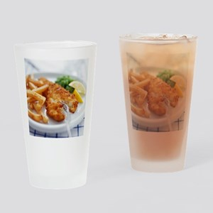 Fish and chips - Drinking Glass