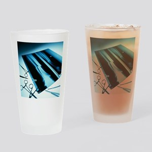 Leg fracture, X-ray - Drinking Glass