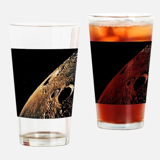 Apollo 12 photo of lunar horizon - Drinking Glass