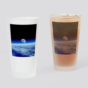 Moon rising over Earth's horizon - Drinking Glass