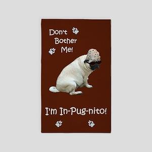 Funny In-Pug-nito! Pug Dog 3'x5' Area Rug