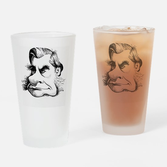 Thomas Huxley, caricature - Drinking Glass
