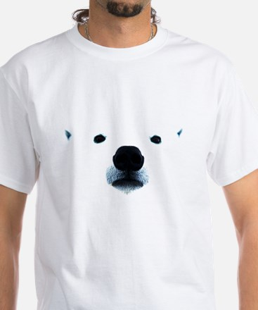 Polar Bear Face White T-Shirt