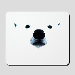 Polar Bear Face Mousepad