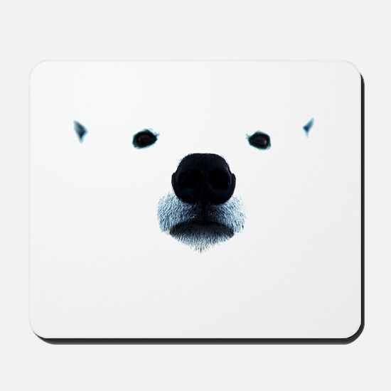 Polar Bear Face Mousepad