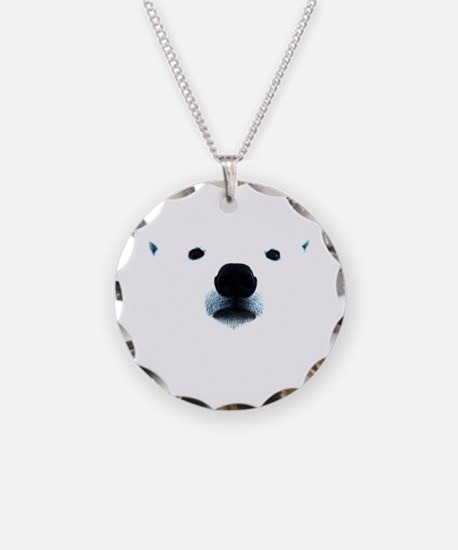 Polar Bear Face Necklace