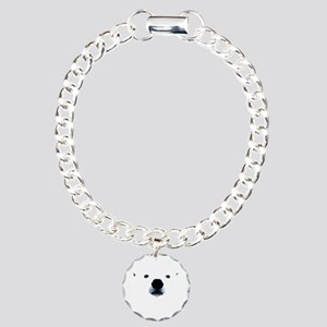Polar Bear Face Charm Bracelet, One Charm