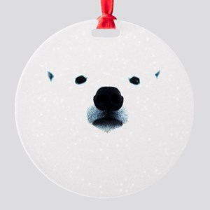 Polar Bear Face Round Ornament