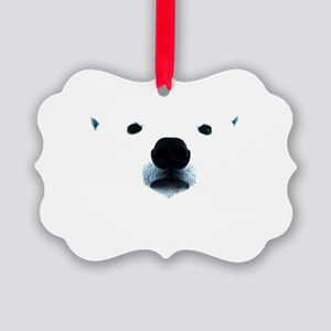 Polar Bear Face Picture Ornament