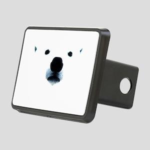 Polar Bear Face Rectangular Hitch Cover