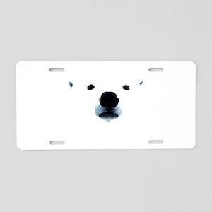 Polar Bear Face Aluminum License Plate