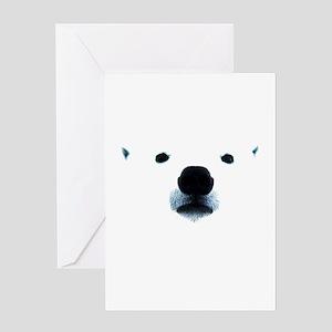 Polar Bear Face Greeting Card