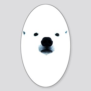 Polar Bear Face Sticker (Oval)