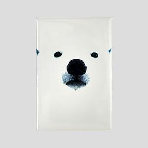 Polar Bear Face Rectangle Magnet