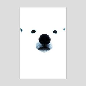 Polar Bear Face Mini Poster Print