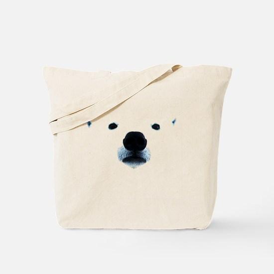 Polar Bear Face Tote Bag