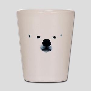 Polar Bear Face Shot Glass