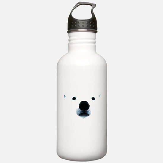 Polar Bear Face Water Bottle