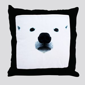 Polar Bear Face Throw Pillow