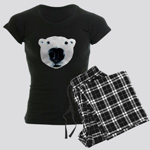 Polar Bear Sniff Women's Dark Pajamas