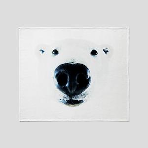 Polar Bear Sniff Throw Blanket